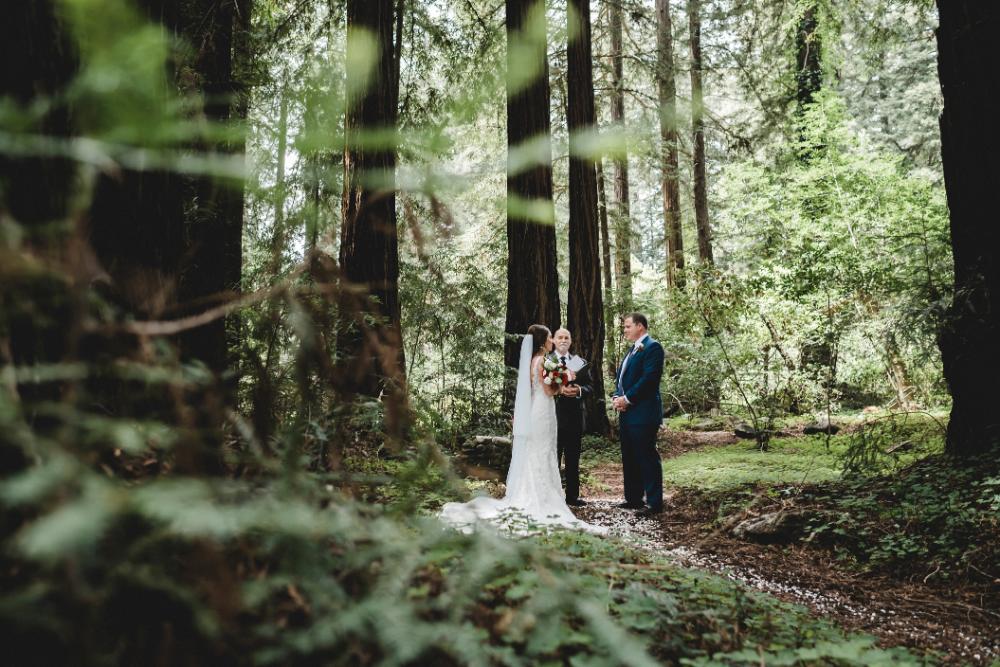 Glen Oaks Big Sur Elopement in the Redwoods Forest by