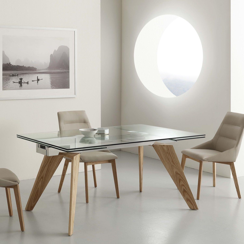 Tavolo allungabile in legno massello frassino 160 x 90 cm