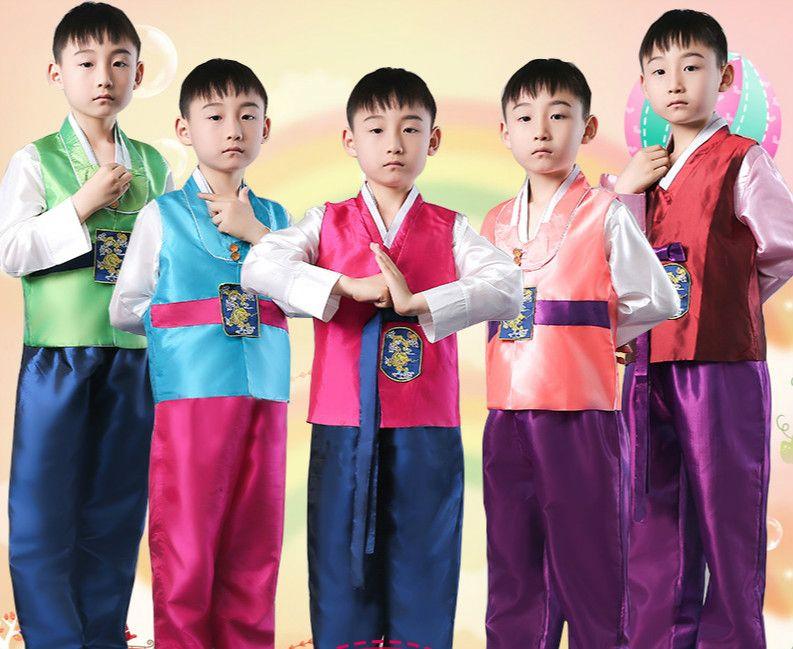 d8fcebb50b Boy Korean Costumes Wear Korean Traditional Clothes Korea Dance Ethnic Clothing  Boys Hanbok Costume Stage Costumes
