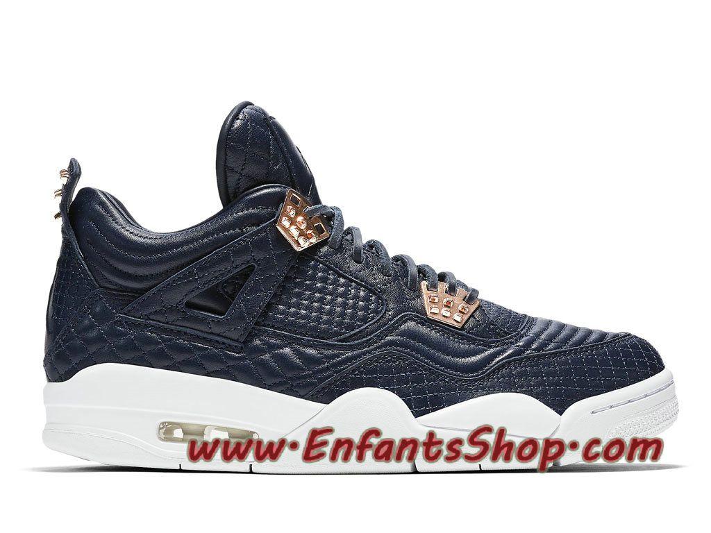 reputable site db3fb 4ced0 Air Jordan 4 Premium Obsidian Chaussures Nike Officiel Pas Cher Pour Homme  Noir Blanc 819139-