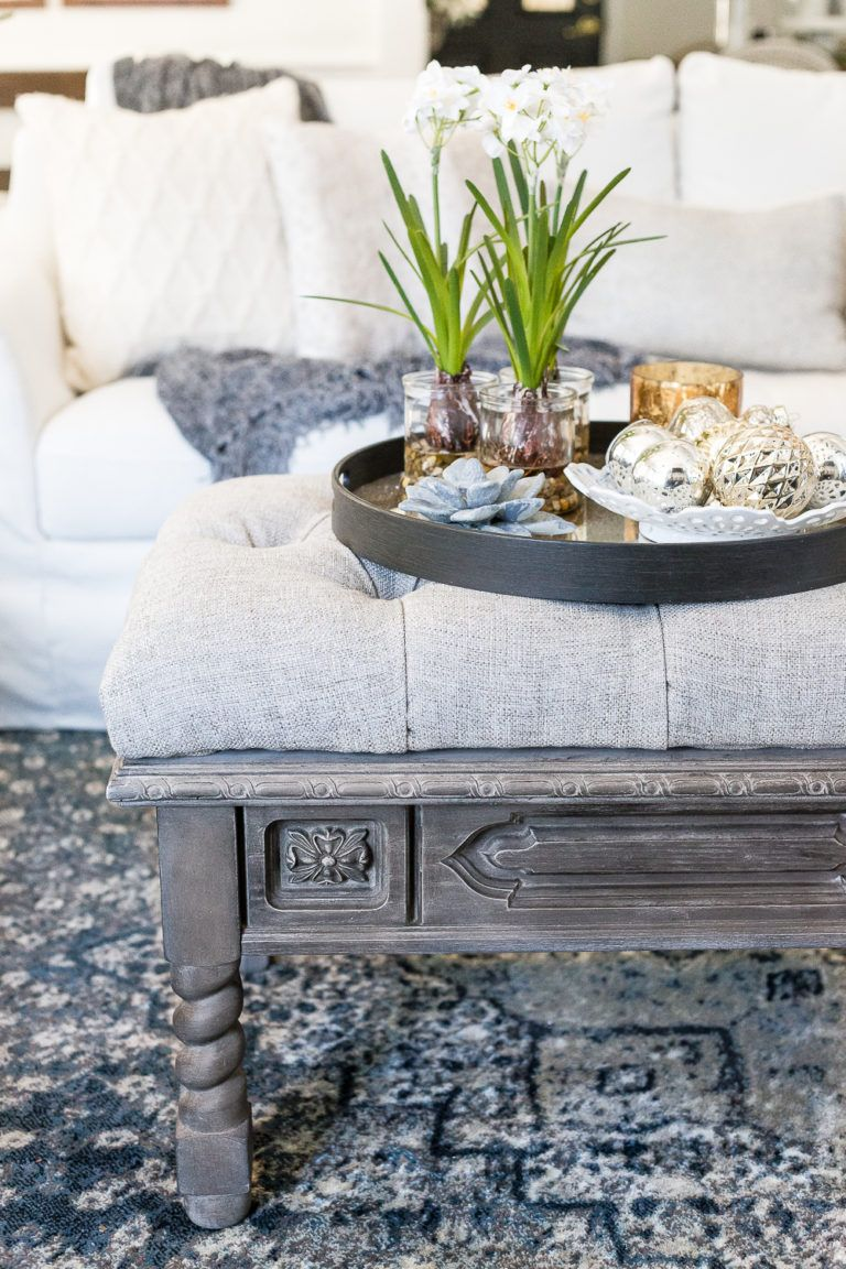 Diy Ottoman Bench From A Repurposed Coffee Table With