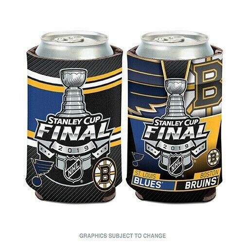 ab1cd49955c07a BOSTON BRUINS ST. LOUIS BLUES 2019 STANLEY CUP FINALS CAN COOLER KOOZIE NHL