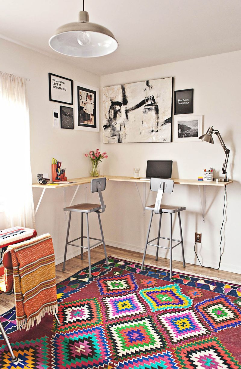 7 Amazing Office Makeovers  Diy standing desk, Home, Interior