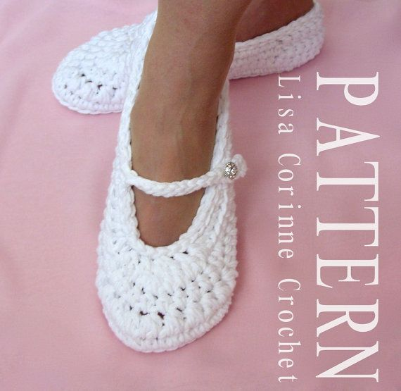 Bridal Slippers, PATTERN, Wedding Slippers Crochet PATTERN, Crochet ...