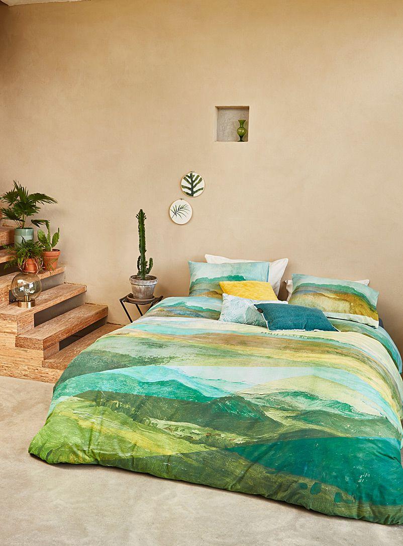 Tuscan landscape duvet cover set Duvet Covers Green
