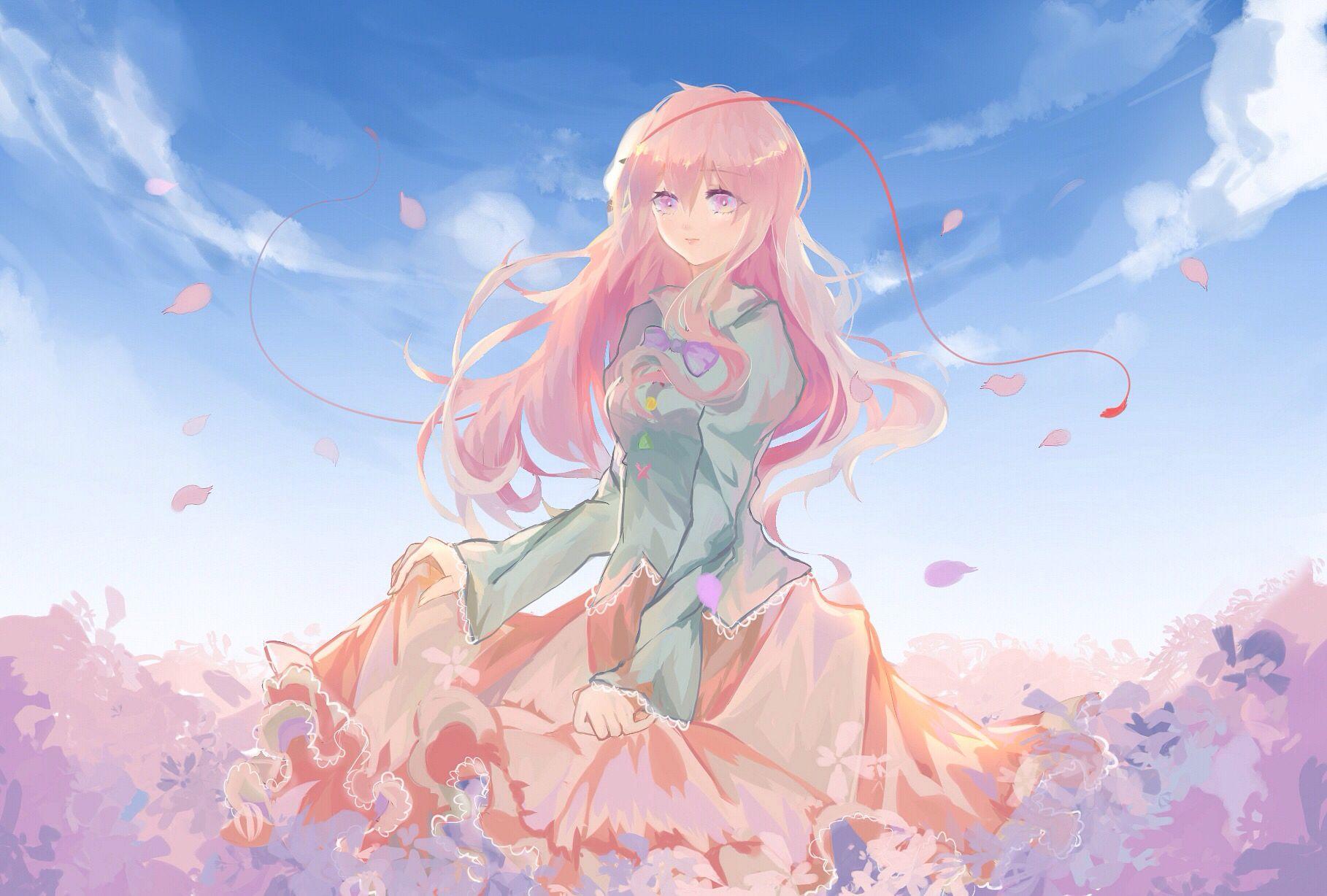 Anime girl pink hair cabelo rosa garotas anime desenhos lindos fundos garota