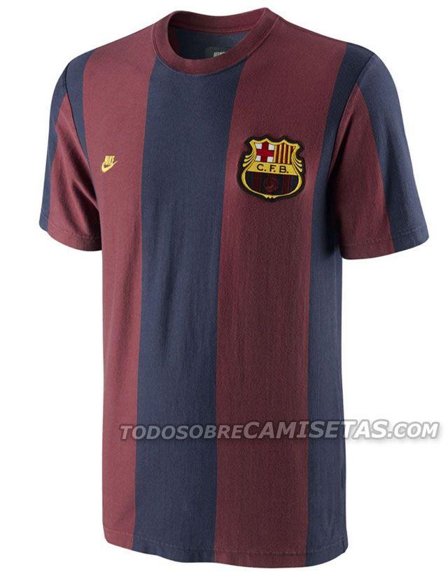 Todo Sobre Camisetas  Camisetas Nike Throwback Retro para Barcelona y Manchester  United 984c0e97ada7d