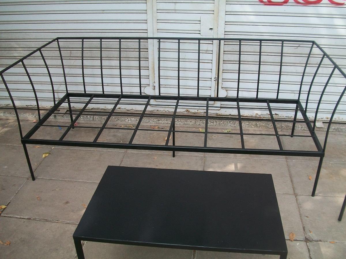 juego de sillones de hierro ideales para jardin en