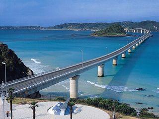 Tsunoshima bridge in Yamaguchi, JAPAN