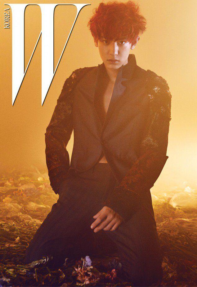 EXO's Chanyeol is a warrior-like youth for 'W Korea' | allkpop.com