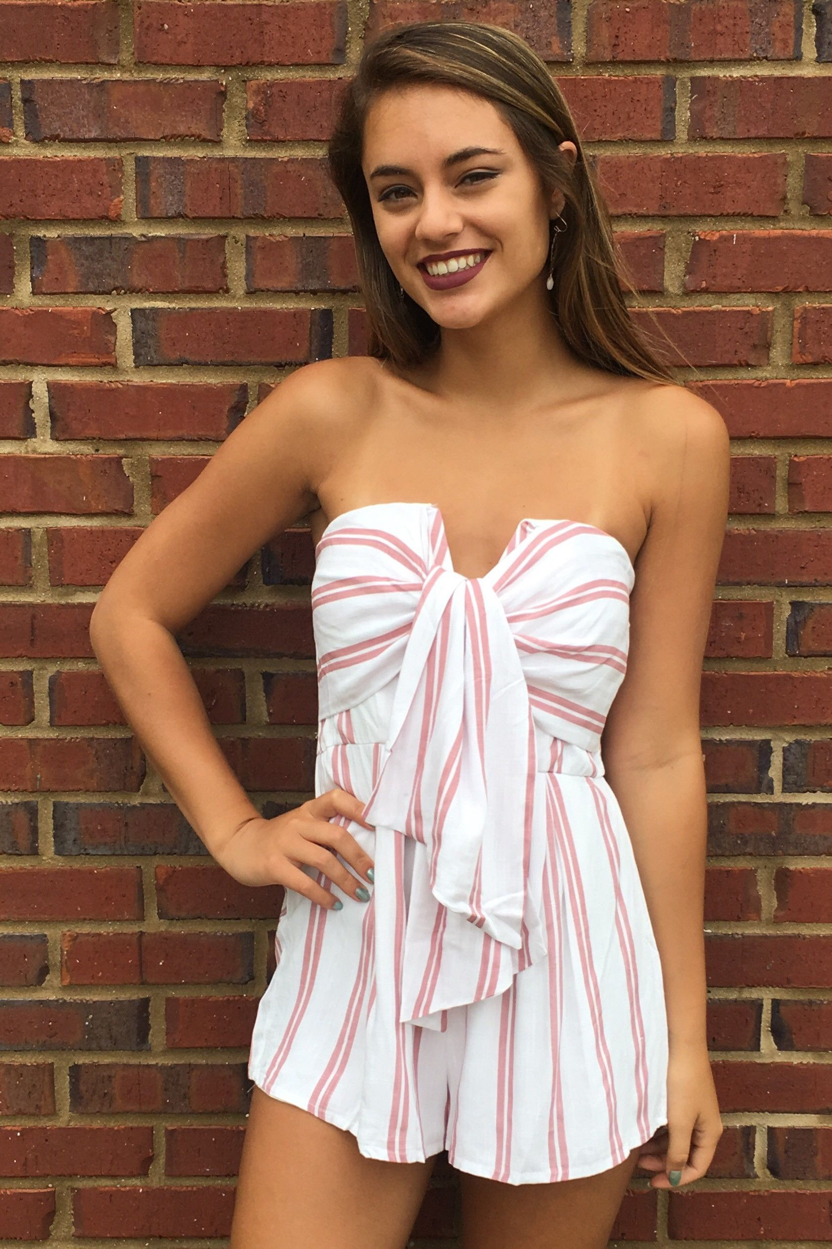 8f844b79f55c Another Day In Paradise Romper - Pink White