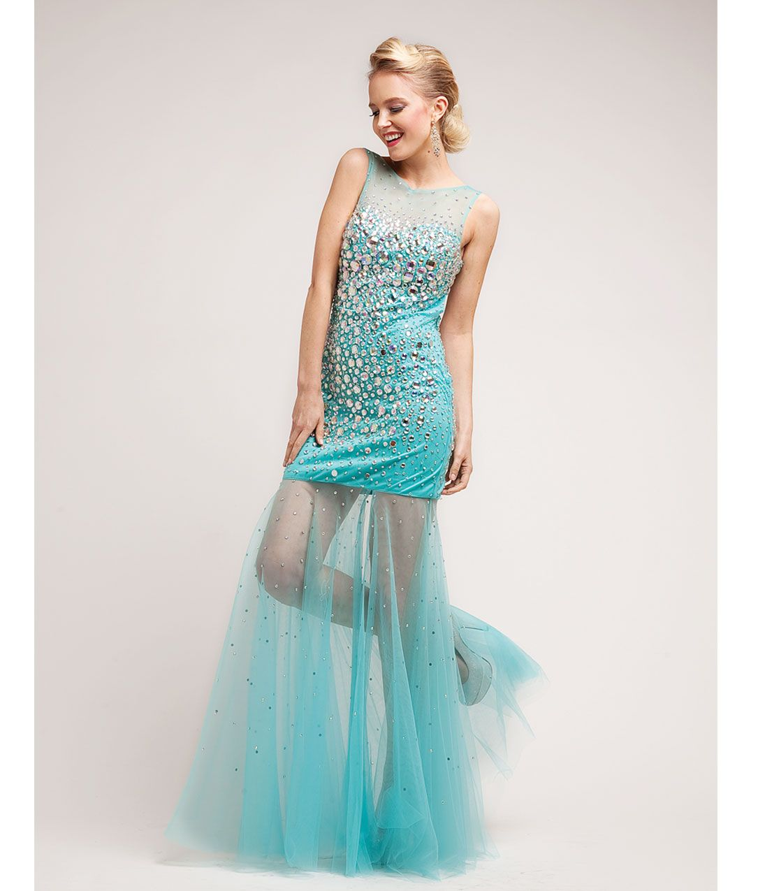 Unique vintage mermaid gown prom and gowns