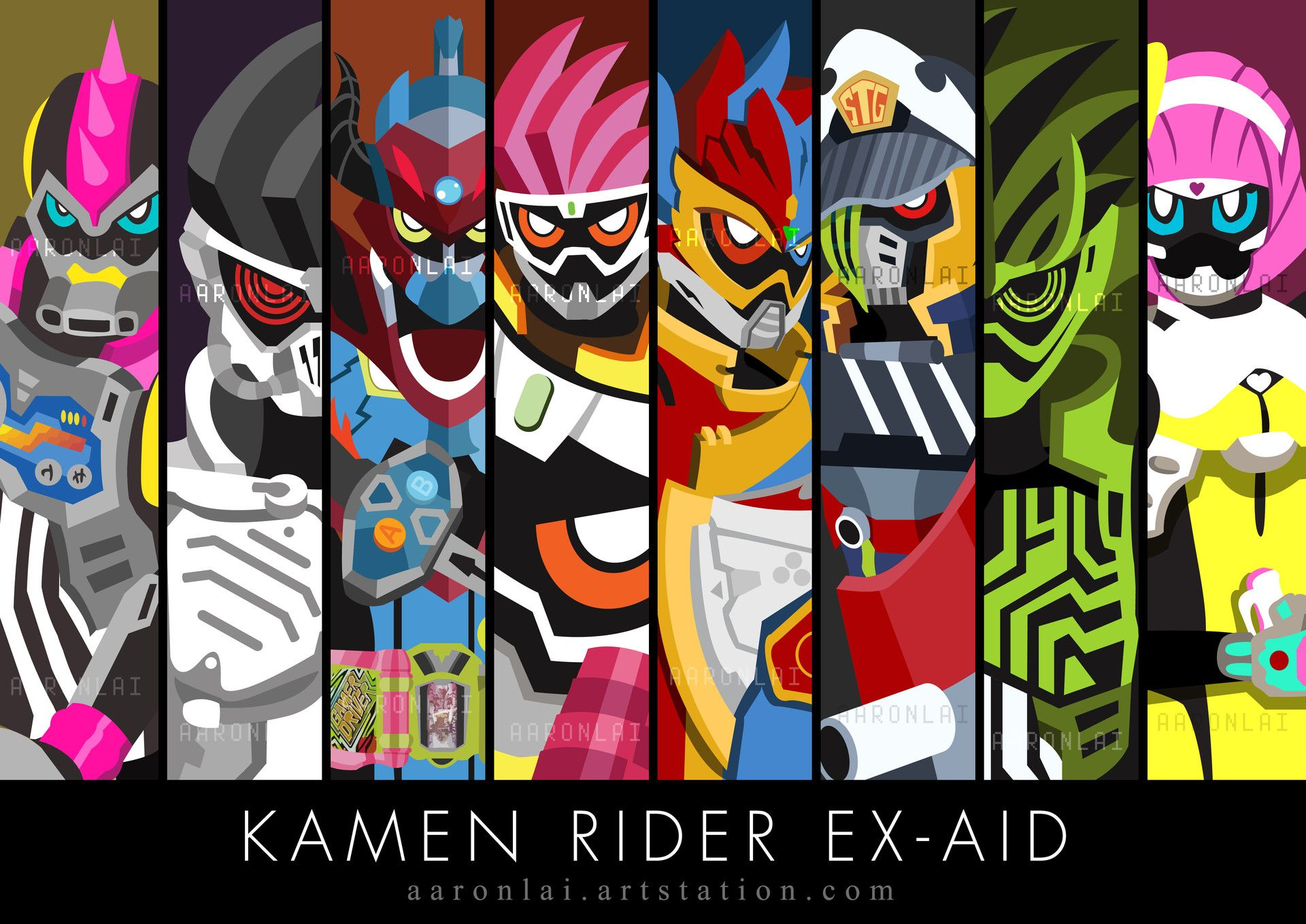 ArtStation KAMEN RIDER EX AID RIDERS Aaron Lai Dengan