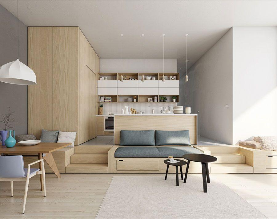 Come Arredare Un Open Space Moderno Ecco 40 Idee Di Design Mondodesign It Interno Appartamento Idee Di Interior Design Interni Casa