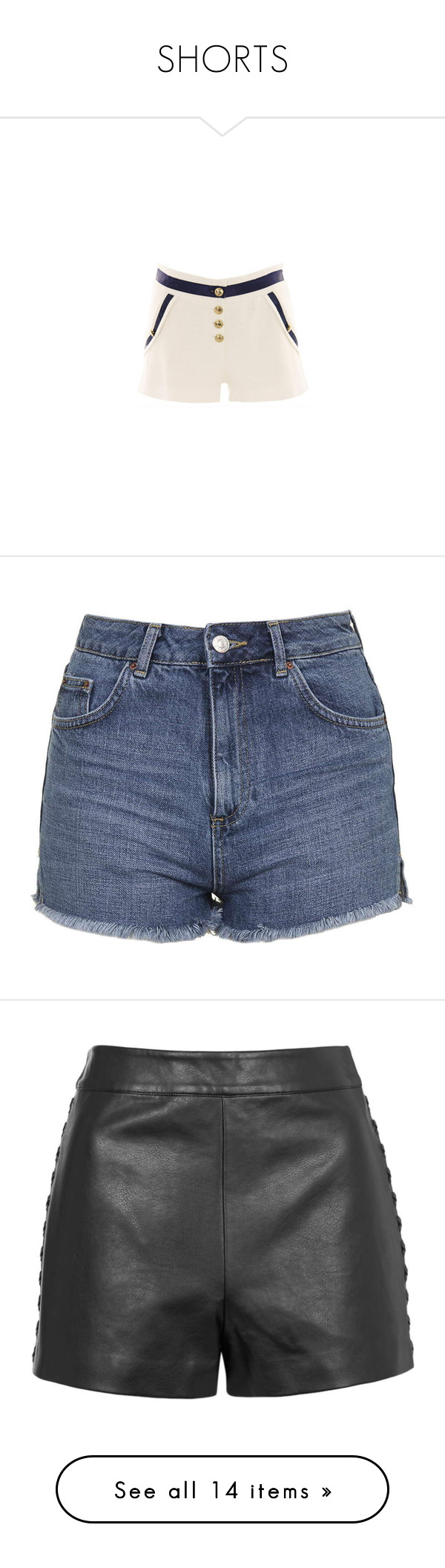 """""""SHORTS"""" by macopa ❤ liked on Polyvore featuring shorts, bottoms, pants, short, шорты, topshop, mid stone, highwaist shorts, high-waisted shorts and vintage shorts"""