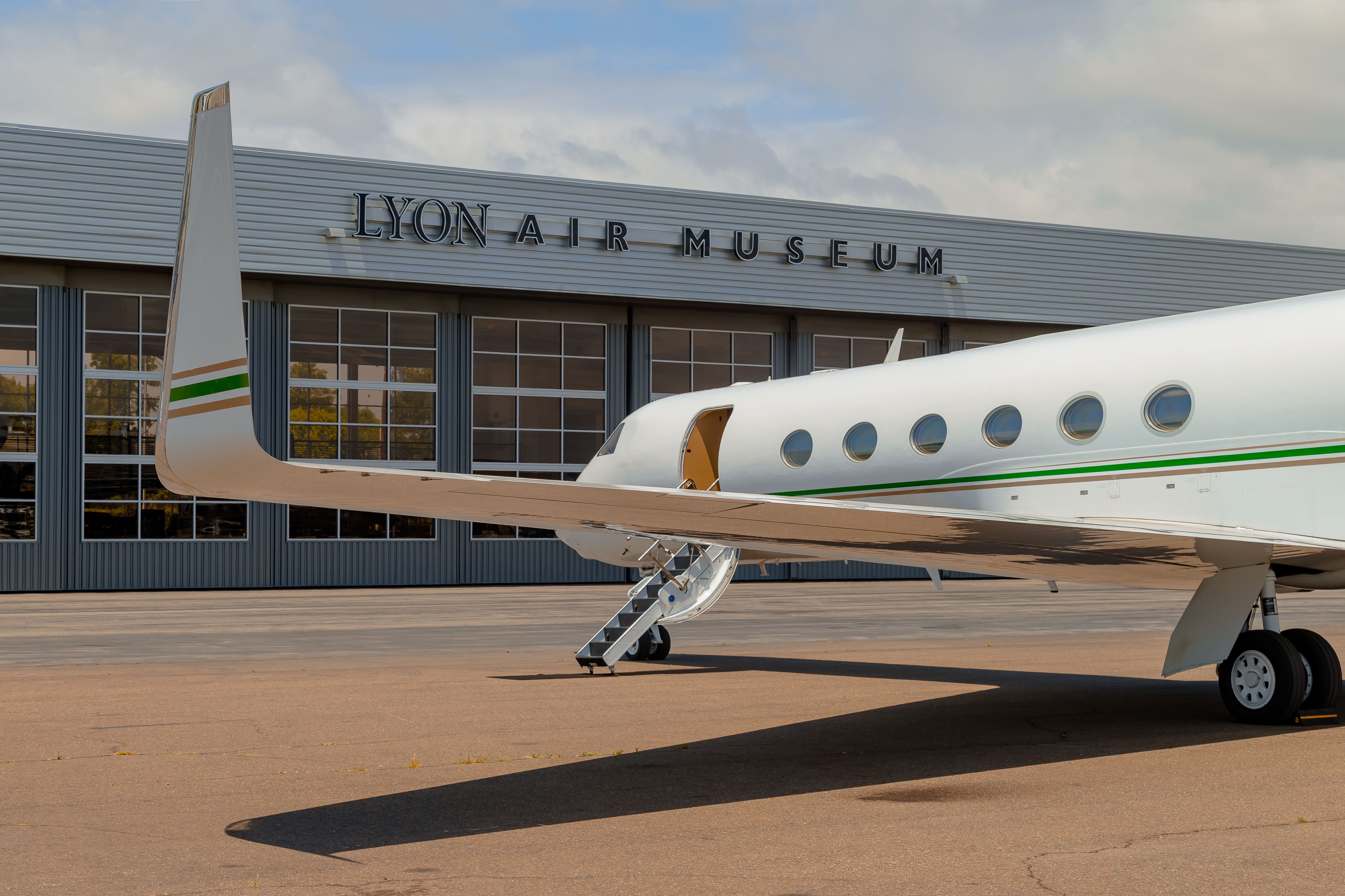 fly in or out of your private event at lyon air museum jetset rh pinterest com