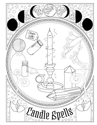 Book Of Spells Witch Coloring Pages Book Of Shadows Spell Book Printable