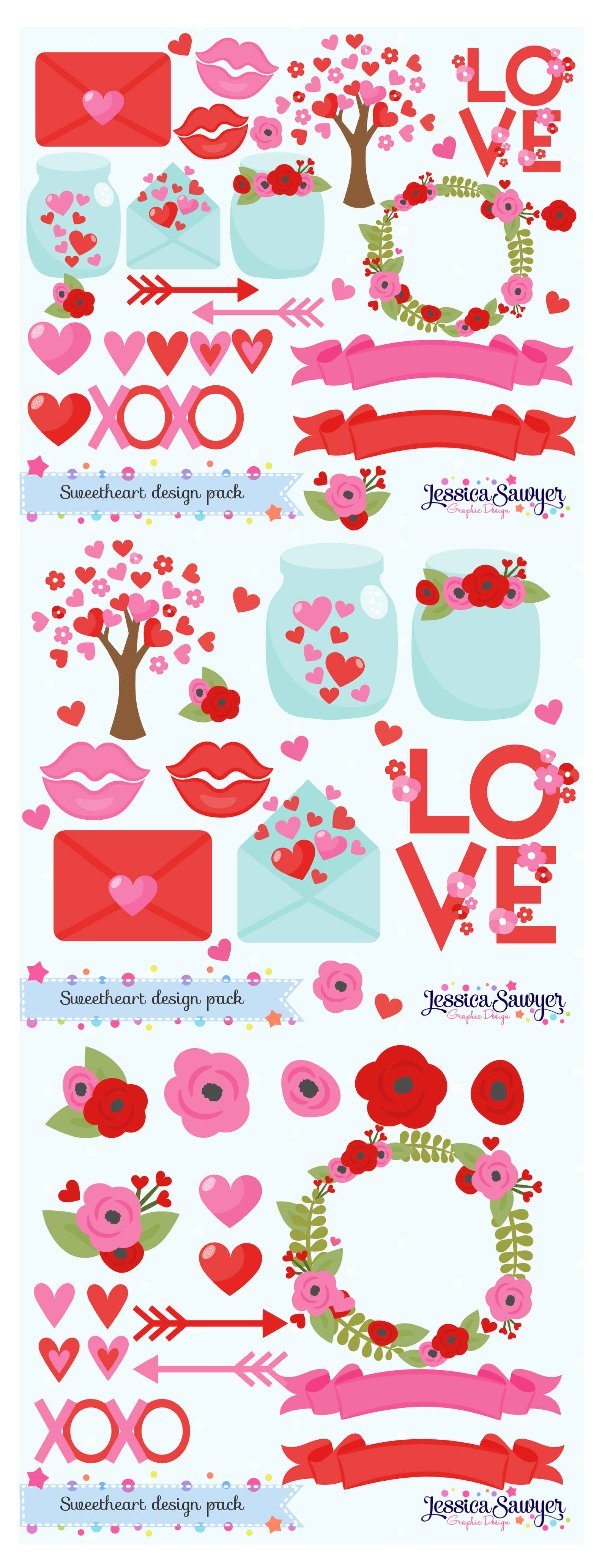 Instant Download Valentines Day Clipart And Vectors For Etsy In 2021 Valentines Day Clipart Valentines Illustration Download Valentines