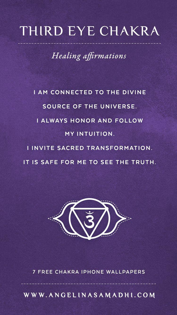 3e8d52995787 Third Eye Chakra Healing Affirmations – chakra affirmations