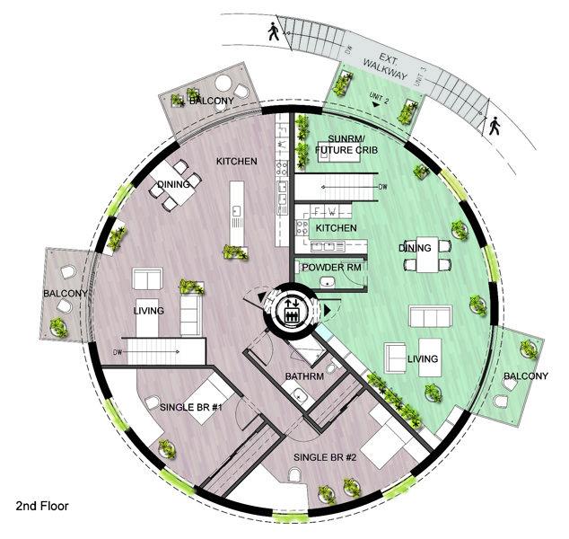 Silo house plans garden home kuca pinterest silo for Silo home floor plans