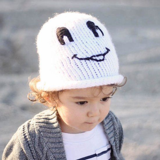 Boo Free Knitting Pattern For This Friendly Ghost Toddler Hat