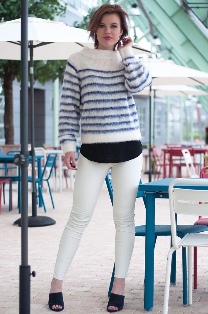 4aace7879480 www.redreidinghood.com RED REIDING HOOD  Fashion blogger wearing big fluffy  jumper mohair streetstyle white leather pants model off duty look