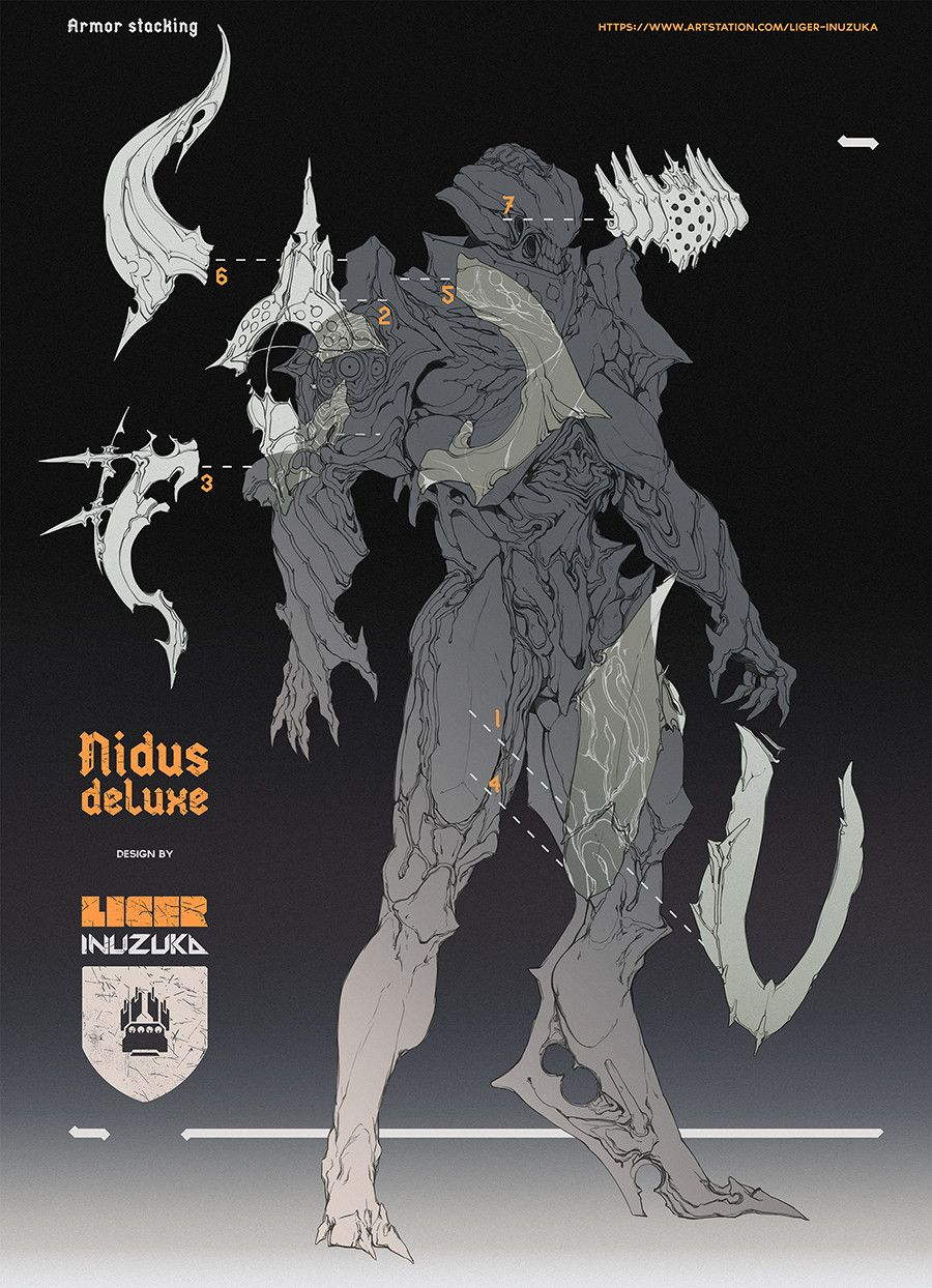 ArtStation - Warframe: Nidus Deluxe Skin Contract Concept Art, Liger ...