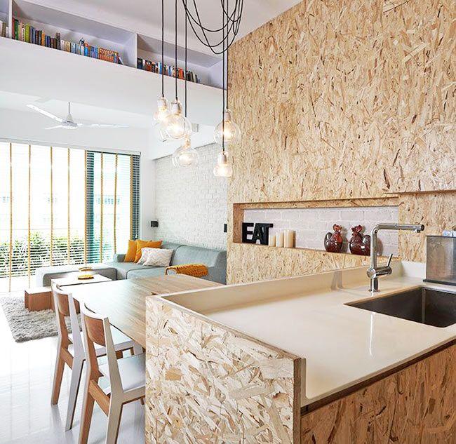 materiau tendance zoom sur le bois osb kitchens pinterest osb dans la cuisine et la cuisine. Black Bedroom Furniture Sets. Home Design Ideas