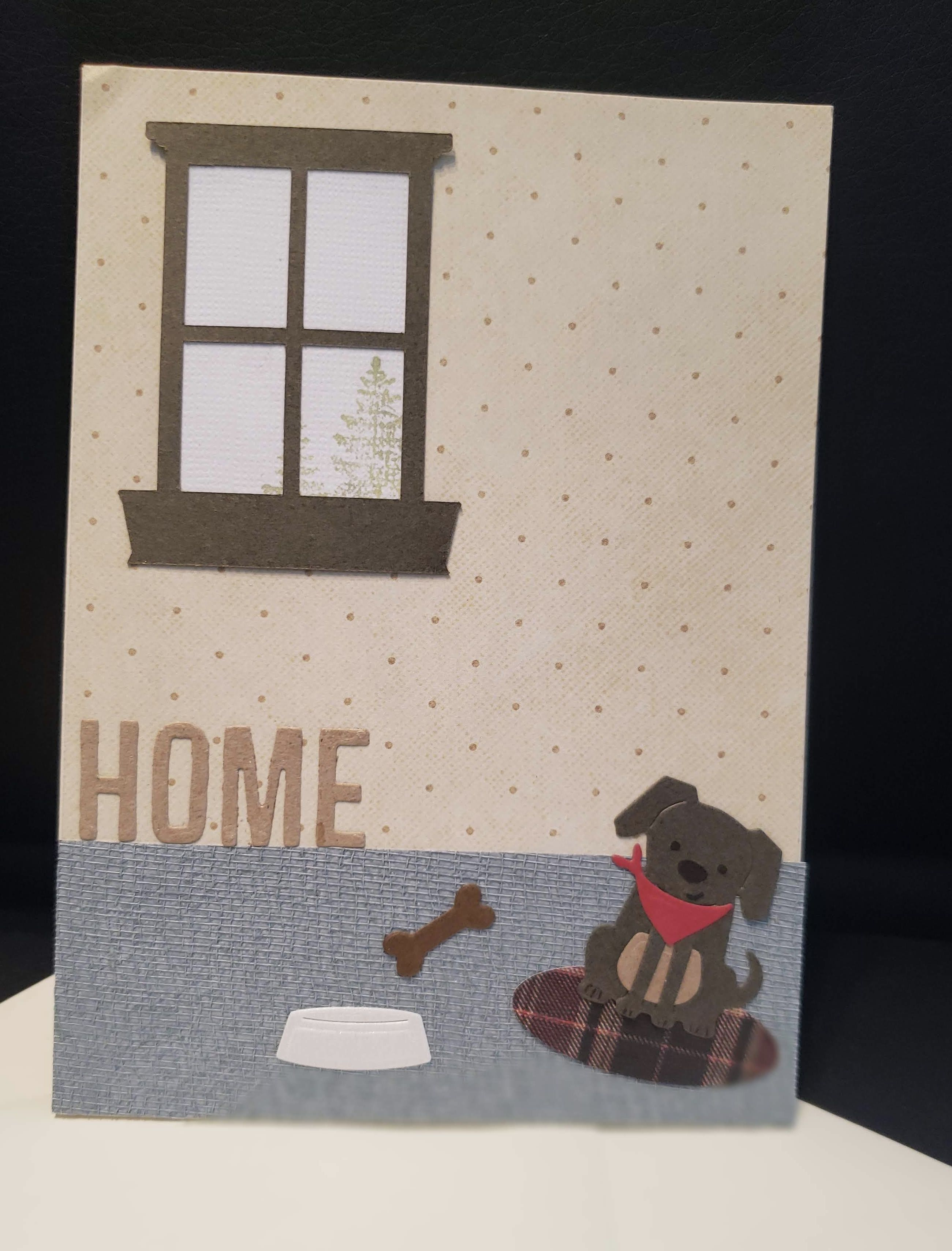Handmade Home Card With Small Brown Dog With A Red Bandana Handmade Home Brown Dog House Of Cards