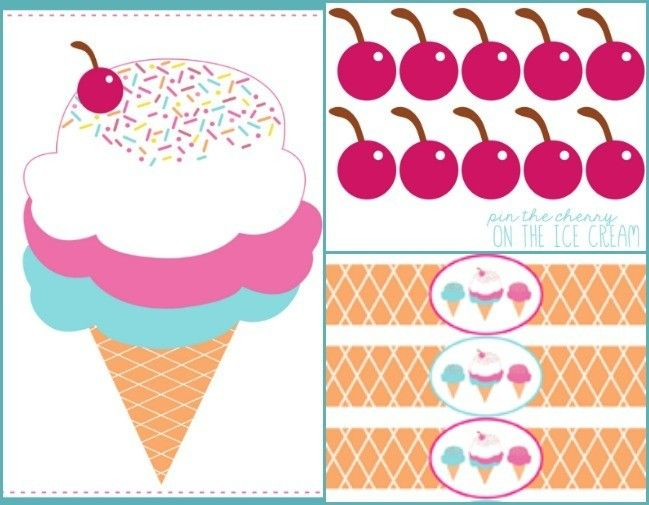 Gorgeous Kids Pin the Tail Printables | Mums Make Lists #icecreambirthdayparty