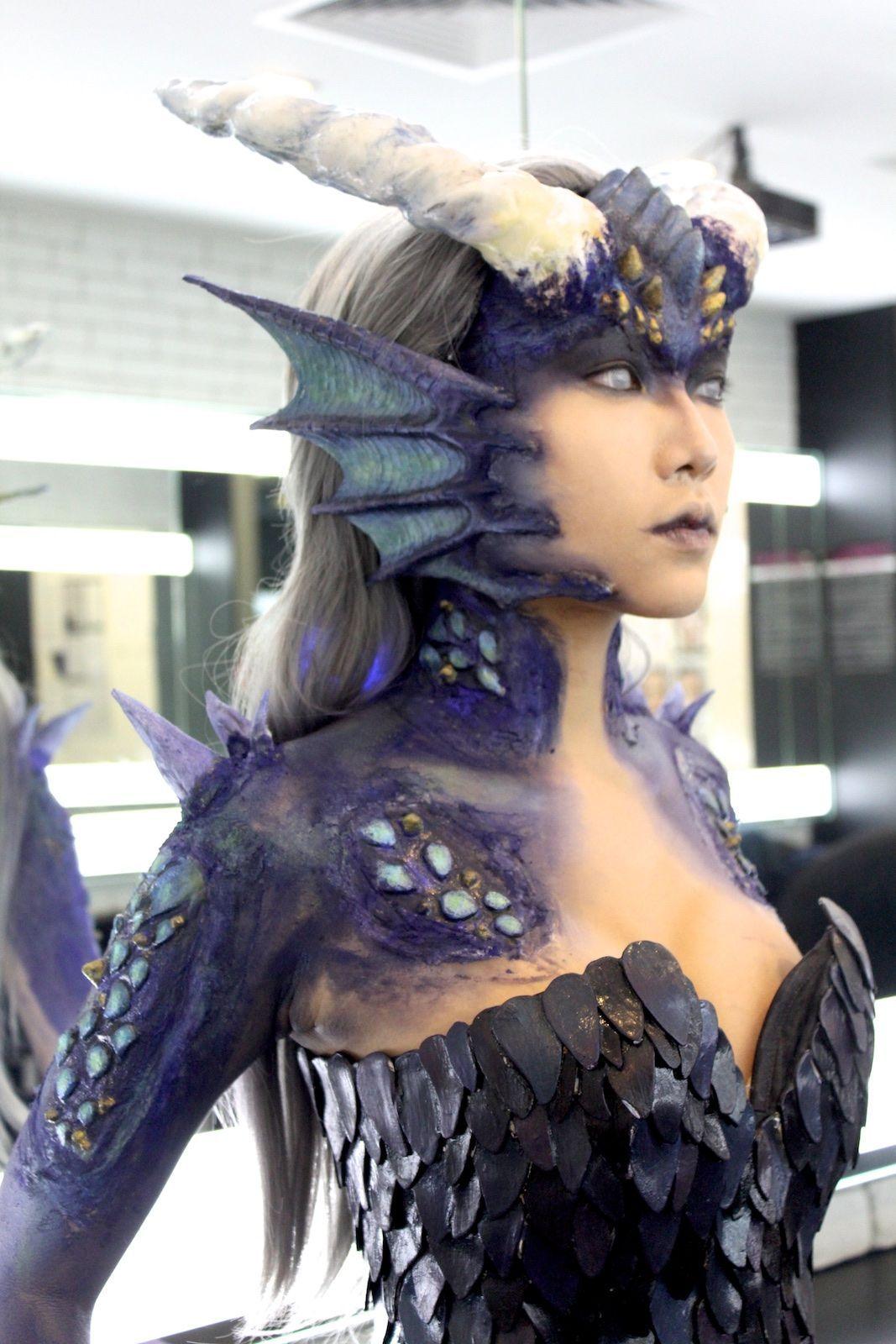 dragon prosthetic Google Search in 2020 Dragon makeup