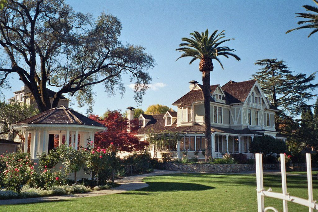 Sutter Home victorian house. We got to stay here. Bed and