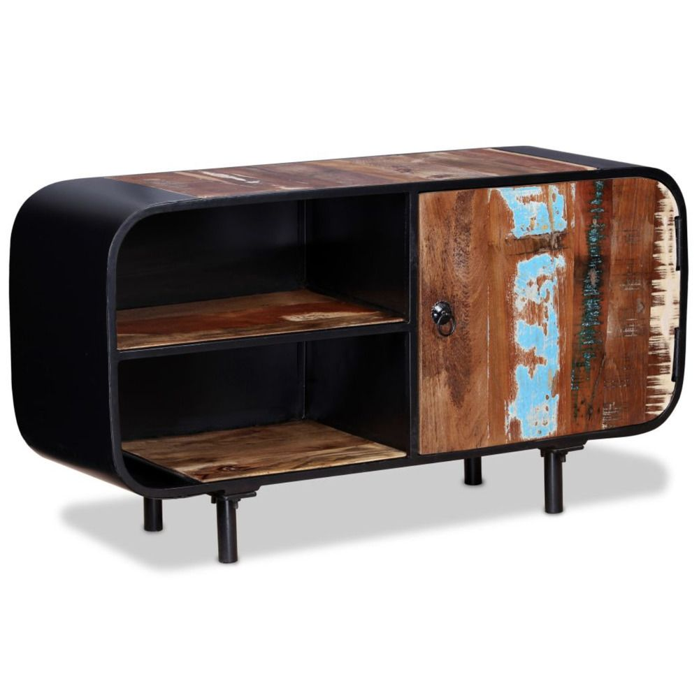 Details About Rustic Tv Stand Vintage Industrial Furniture