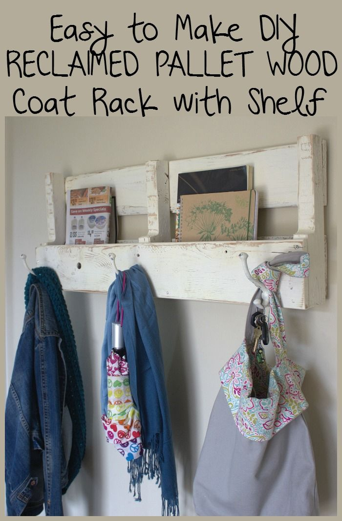 Make Your Own Reclaimed Wood Pallet Coat Rack And Shelf Pinterest Simple How To Make Your Own Coat Rack