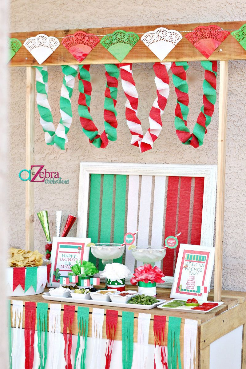Mexican christmas party decorations -