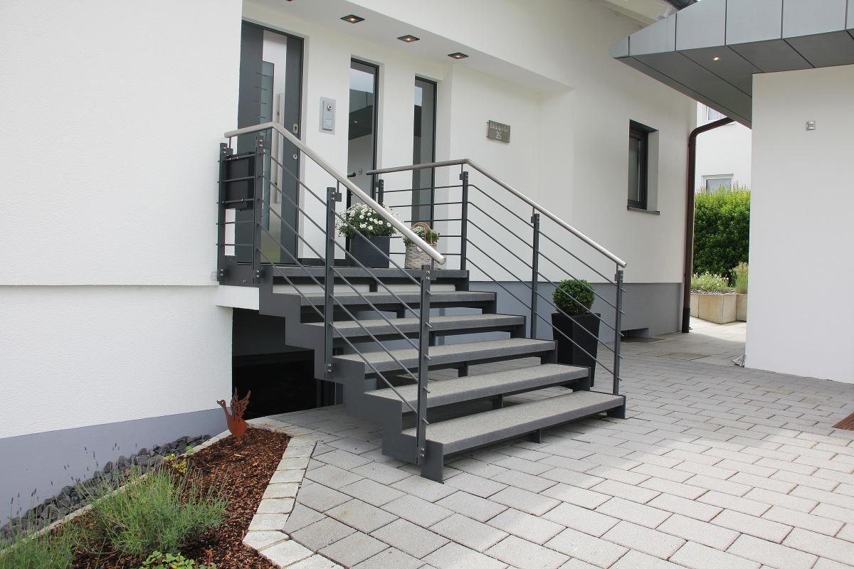 Außentreppe in Stahl und Stein | Zukünftige Projekte | Pinterest ...