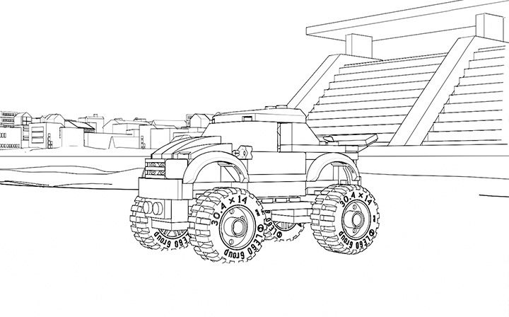 LEGO Coloring Sheet. 60055 Monster Truck | Lego coloring ...