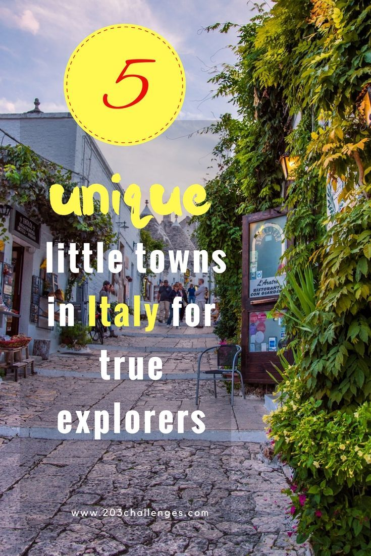 5 unique little towns in italy for true explorers italy