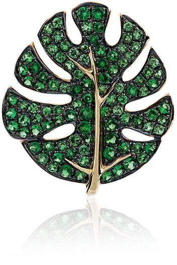 Yvonne Léon Gold Palm Tree leaf earring 2NCymXcvnm
