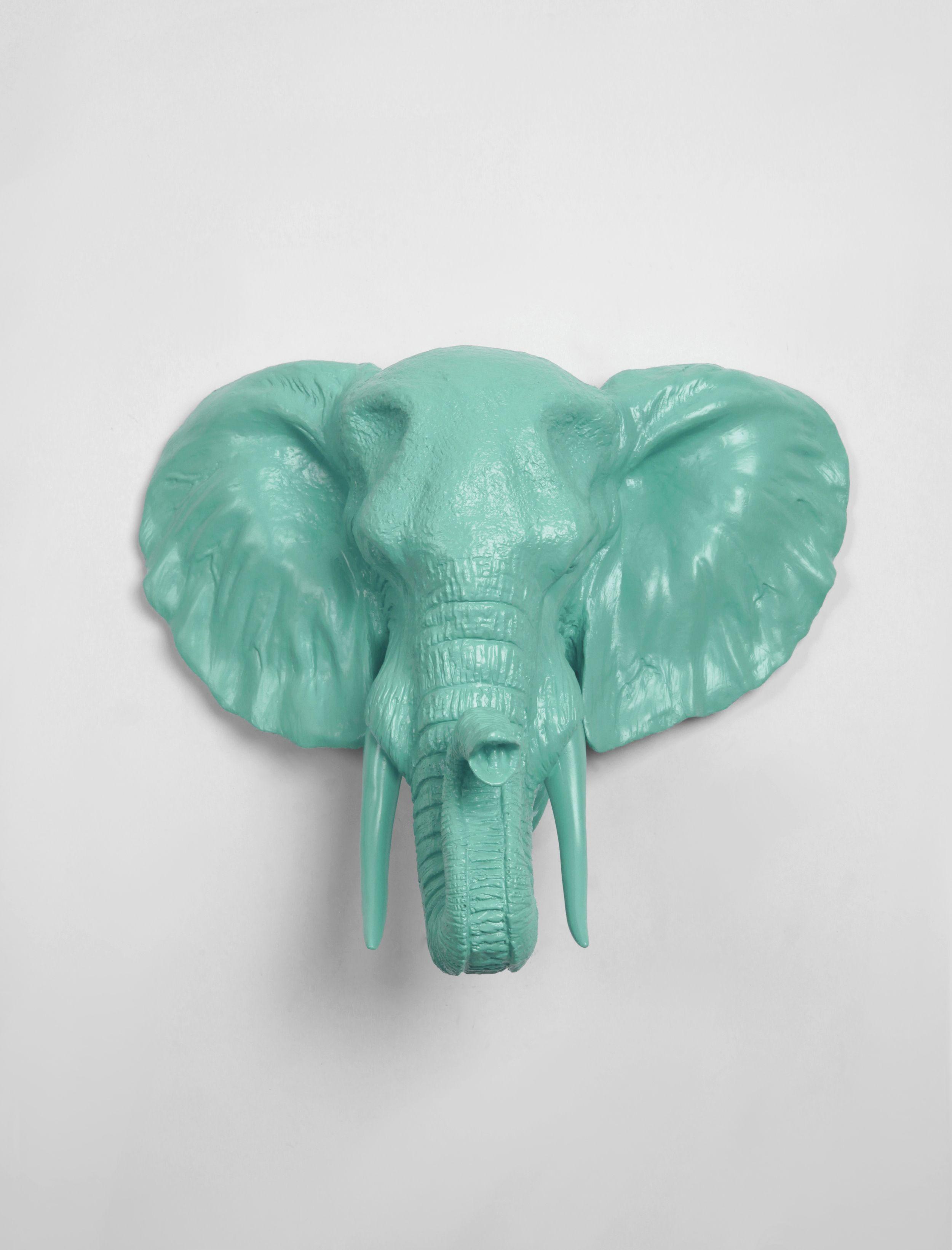 Elephant Head Faux Taxidermy