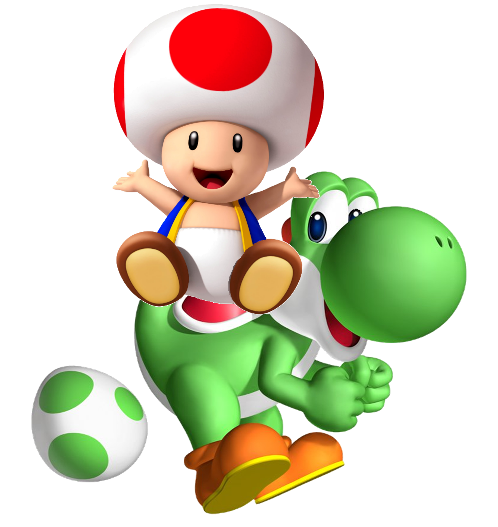 Toad And Yoshi Coloring Pages