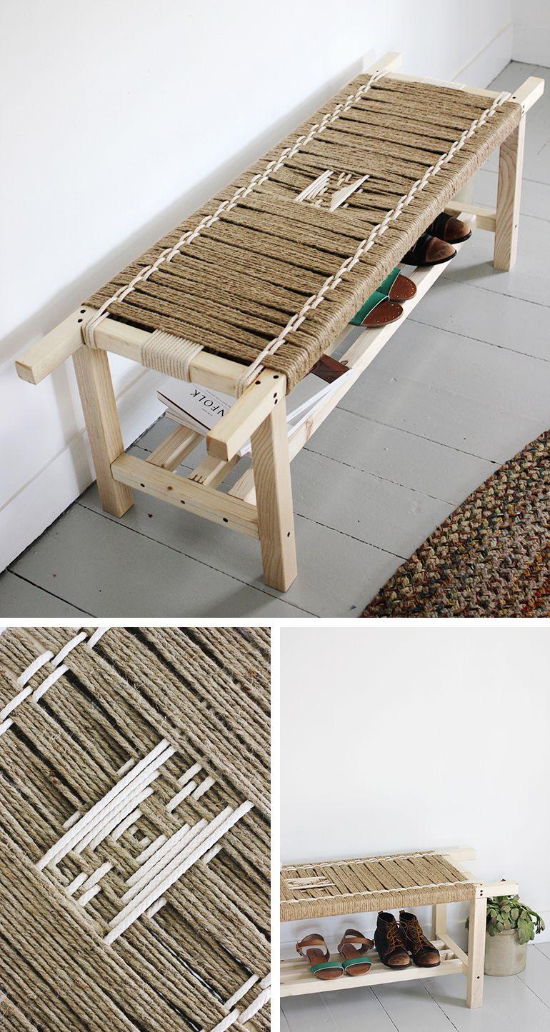 Diy Woven Bench Diy Woven Bench Diy Furniture Handmade