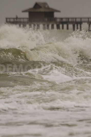 Effects of Tropical Storm Debby on Naples beach in Florida ...