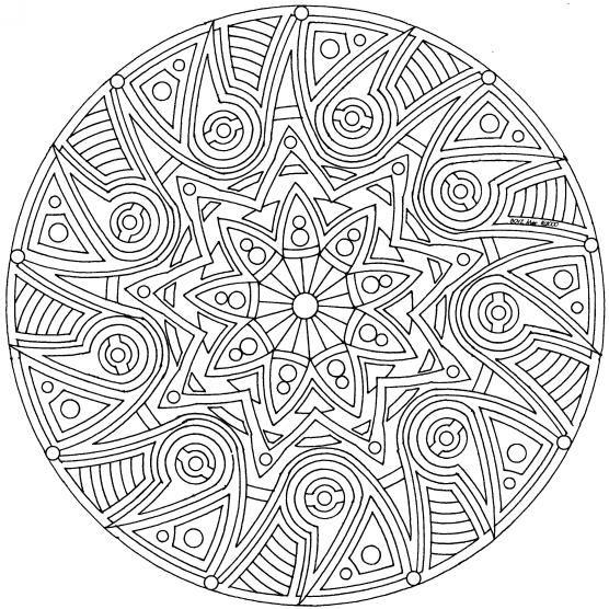 Mandalas Para Colorear Dificiles Y Bonitas 14 Con Imagenes