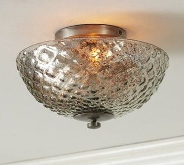 Hobnail Mercury Glass Flushmount Traditional Ceiling Lighting Of Course Its No Longer Available Mercury Glass Lighting Mercury Glass Glass Ceiling Lights