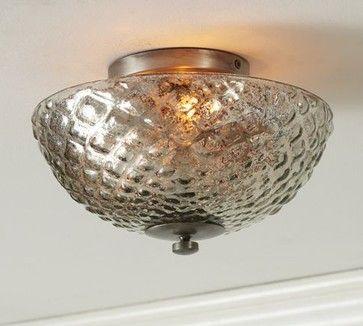 Hobnail Mercury Glass Flushmount Traditional Ceiling Lighting Of