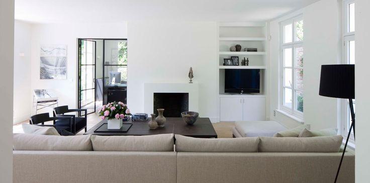 woonkamer met wand met openhaard... voor meer inspiratie www ...