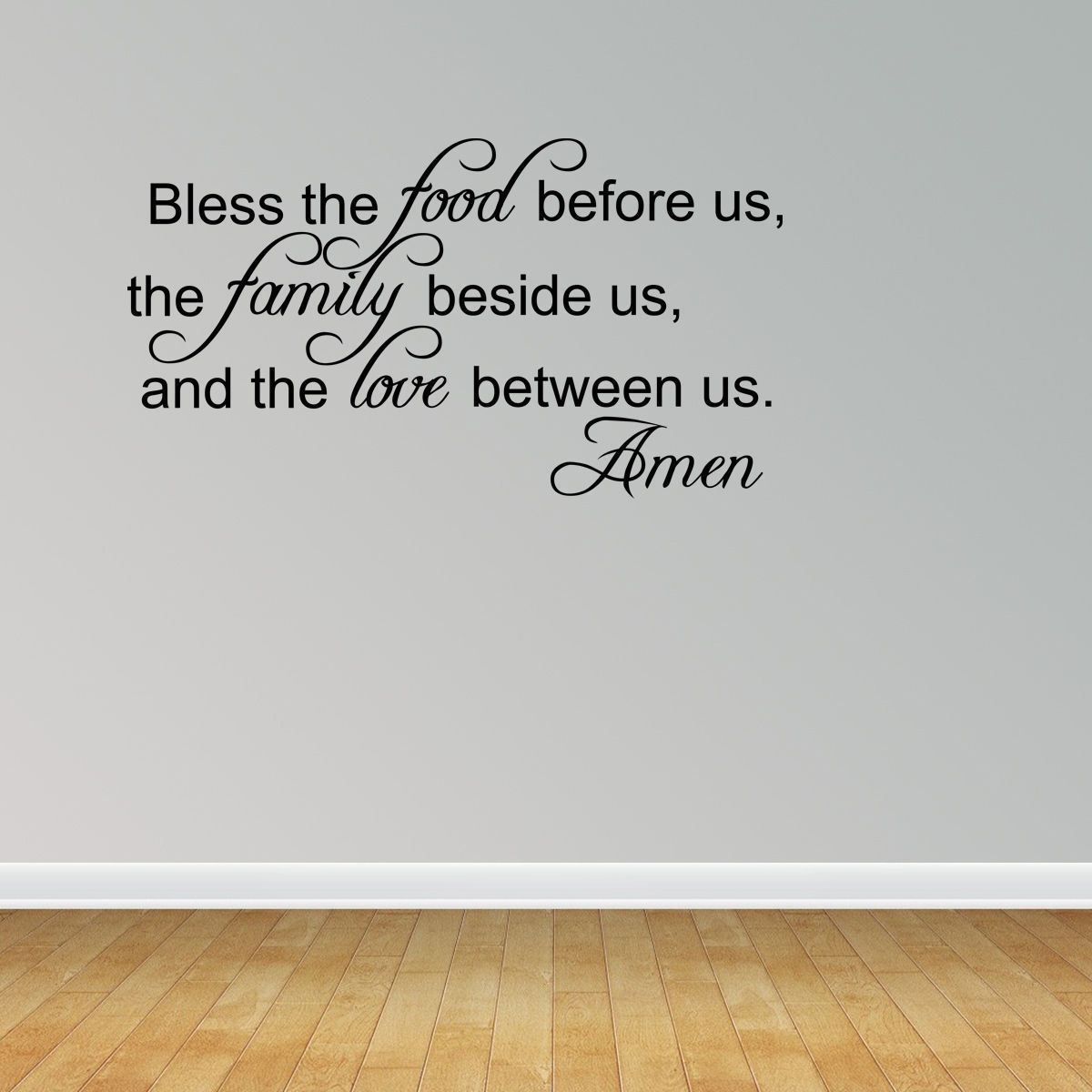 bless the food before us dining room wall decal family wall art bless the food before us dining room wall decal family wall art quote kitchen 9 99