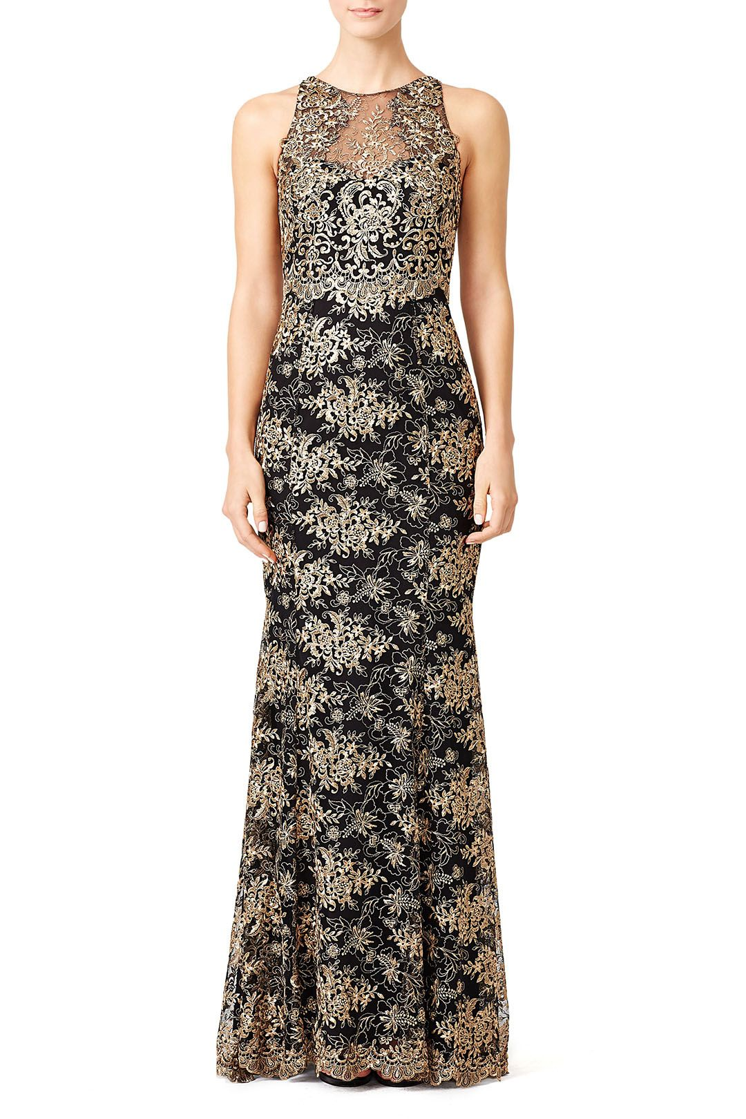 Marchesa notte gilded garden gown gala pinterest marchesa