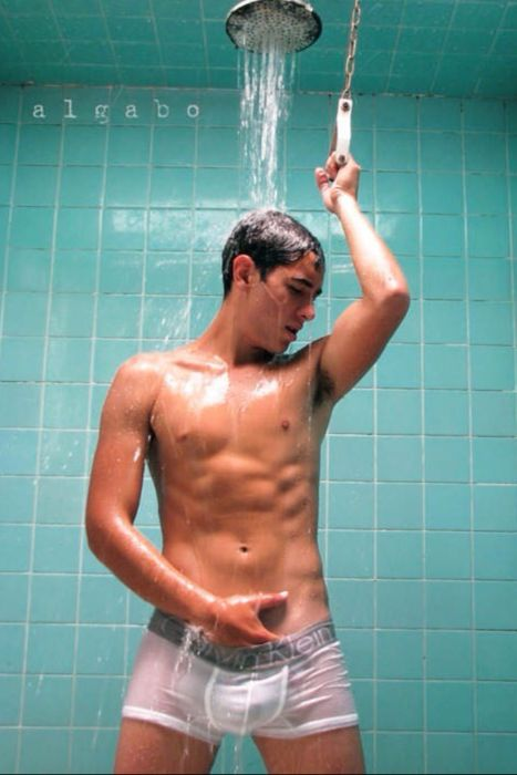 Gay guys getting wet iwearing underwear movies hottie-12311